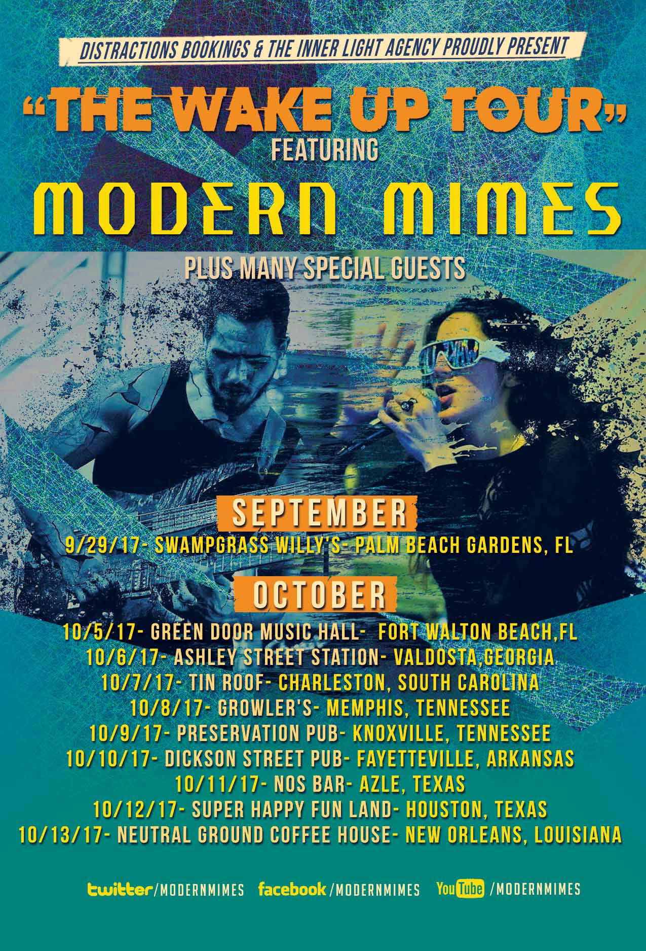Catch Modern Mimes Live On Quot The Wake Up Tour Quot Antihero