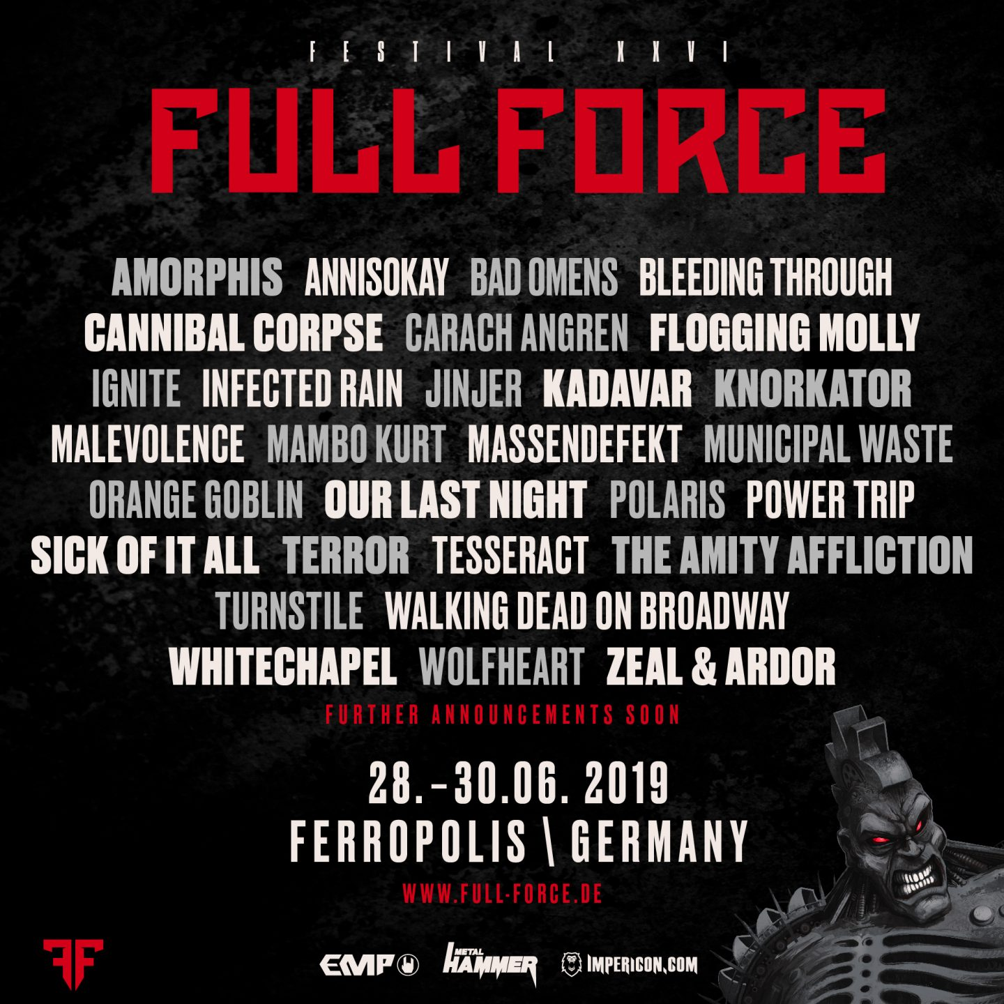 FULL FORCE FESTIVAL 2019 - THE FIRST BANDS OFFICIALLY
