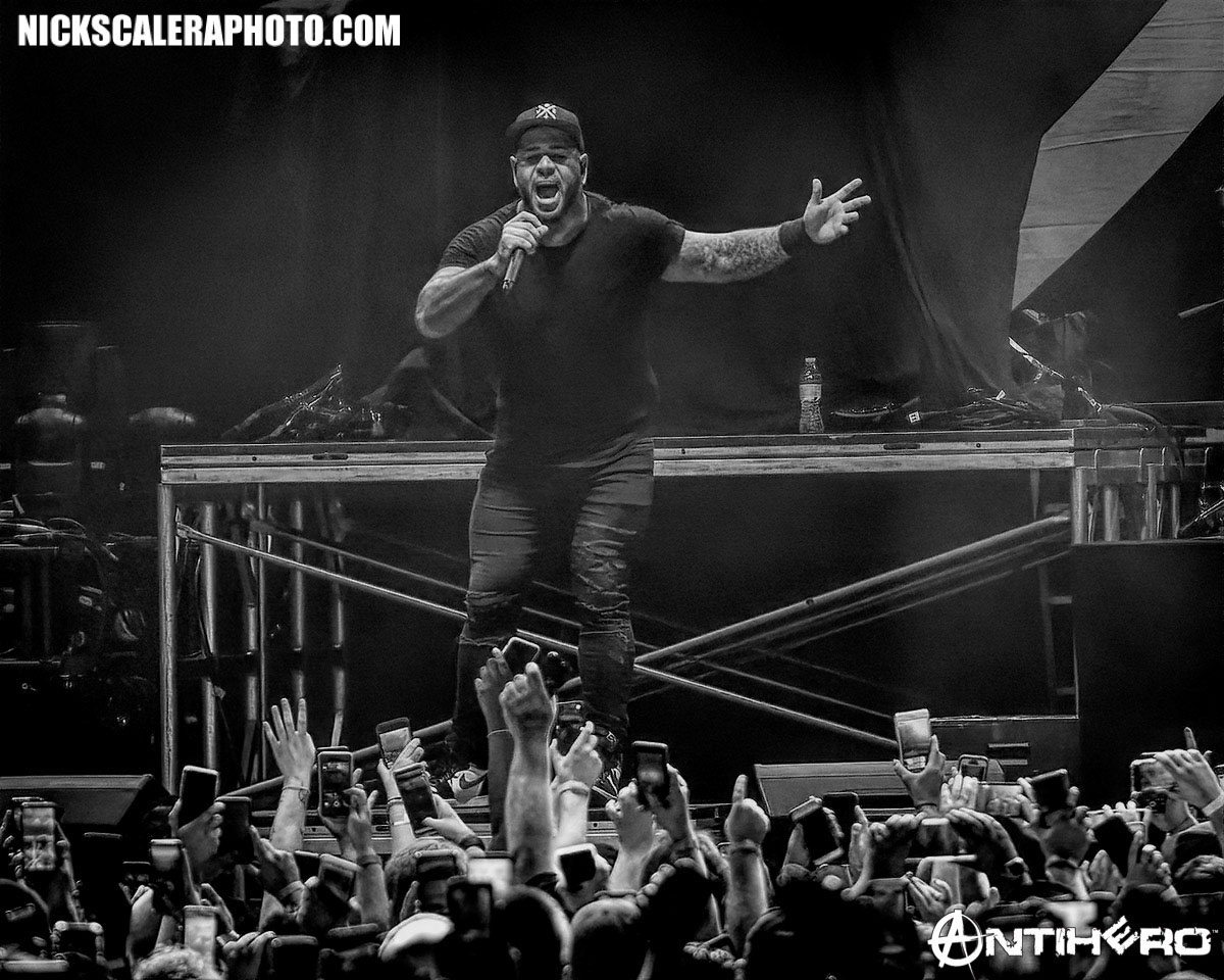 Bad Wolves perform at the Wind Creek Event Center in Bethlehem, PA on August 13, 2019.